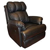 ‏‪Recliners India Style 369 Swivel Glide Single Seater Recliner - Black‬‏