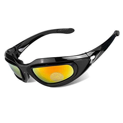 MaxAst Schutzbrille zum Schießen Brille Motorrad Herren Arbeitsbrille Antibeschlag Schwarz