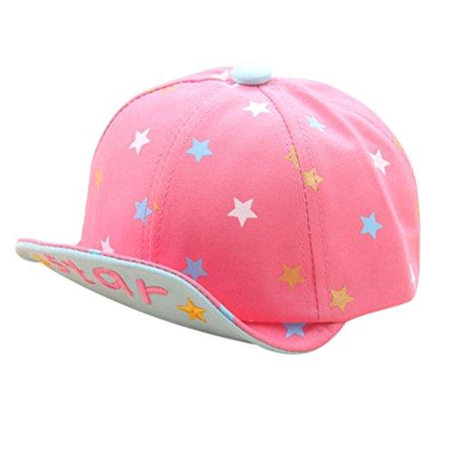 Babybekleidung Hüte & Mützen Longra Baby Mütze für jungen Mädchen scharfe Sonnenhut Sterne Brief Kinder Baseball Hüte( 3 -24Monate ) (Pink) (Staat Stricken)