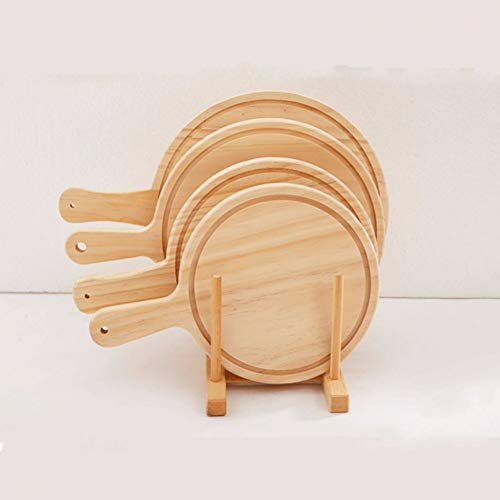 KUNHAN Pizzaschaufel Hölzerne Pizza Pan Tray Holz Paddle Peel Platte Pie Serving Board Pfannkuchen Backen Schnitt Stand Pizza Küche Werkzeug Grün