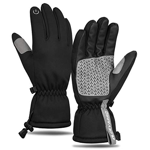 Yobenki Skihandschuhe Warm Winterhandschuhe rutschfeste Touchscreen Handschuhe Fahrradhandschuhe Wasserdicht 3M Thinsulate Insulation für Unisex Snowboard, Motorrad, Bergsteigen -20 °C/-4℉