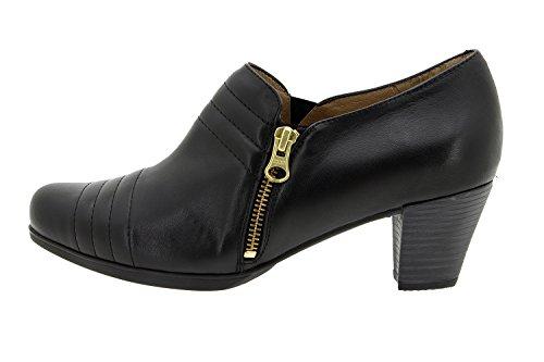 Chaussure femme confort en cuir semelle Piesanto 5452 chaussure casual comfortables amples Noir
