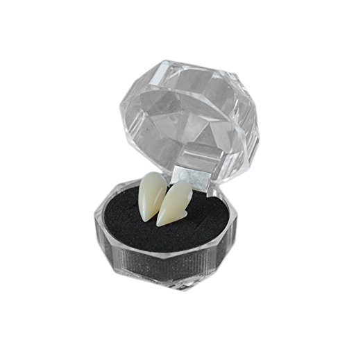 �hne Vampirzähne Zahnersatz für Party Halloween Halloween Rollenspiele Kostüm Zubehör Weiß 15mm ()