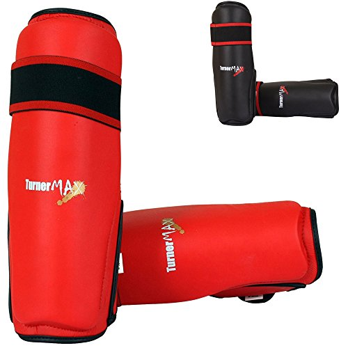 TurnerMAX Kickboxen Muay Thai Stutzen MMA Beinschutz PU UFC Red Small