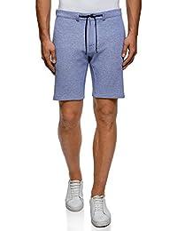 oodji Ultra Hombre Pantalones Cortos de Punto con Cordones