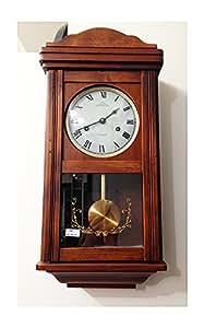 Orologio a pendolo meccanico carica 31 giorni suoneria for Orologio legno amazon
