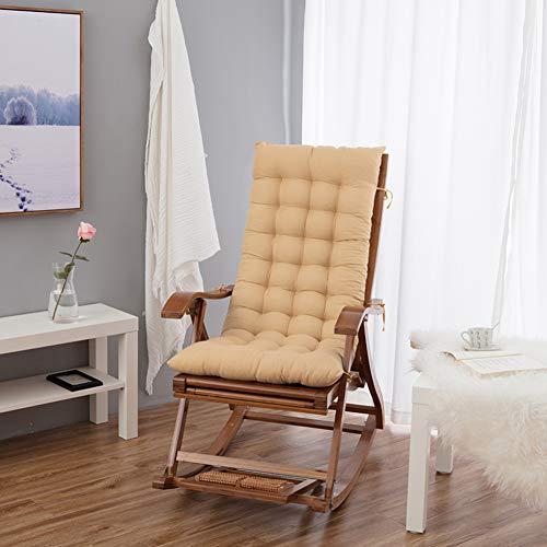 Yearly cuscini per sedie da giardino, papasan cuscini per panche addensare allungare ufficio sedia pieghevole sedia a dondolo sedia di vimini bambù cuscini per sedia-color crema 48x120cm(19x47inch)