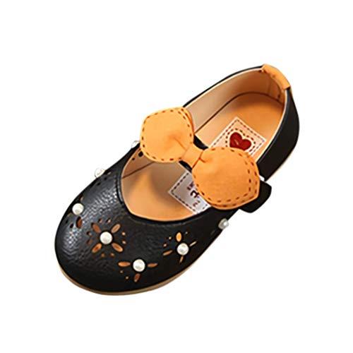 CixNy 1-6Jahre Tanzschuhe Kleinkind Sommer Mädchen Kinderschuhe Schuhe Einzelne Schuhe Hohl Und Bogen Perle Lederschuhe Lauflernschuhe Mädchen Prinzessin Shoes Schwarz Pink Beige - Teen Flapper Kostüm