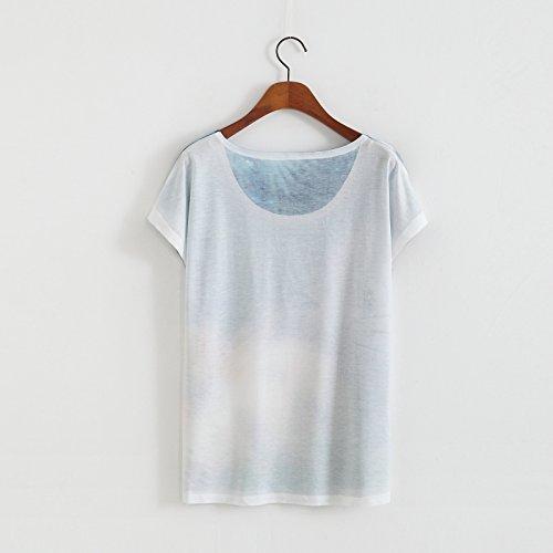YICHUN Damen T-Shirt Weiß weiß One size 20# ...
