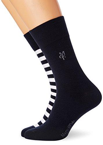 Marc O'Polo Body & Beach Herren Legwear Socks (3-Pack), 3 Blau (Admiral 801)