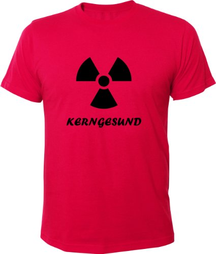Mister Merchandise Cooles Fun T-Shirt Kerngesund AKW Kernenergie Pink
