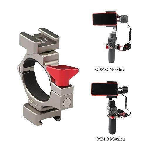 Zhiyou Morsetto Q-Ring Adattatore per Microfono con Cold Shoe per DJI Osmo Mobile 2 e Osmo Mobile, Antigraffio e Stabilità Superiore