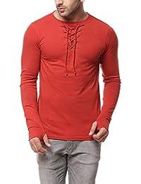 Gritstones Rust Full Sleeve Round Neck T Shirt GSFSTSHT1282RST