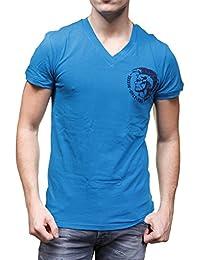 Diesel - T Shirt Umtee Michael Bleu