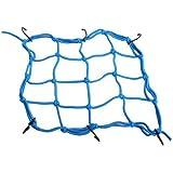 Dealglad® Azul Moto 6ganchos pulsado Casco equipaje Malla Bungee 30* 30cm