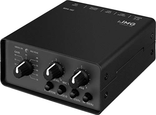 IMG STAGELINE MPA-102 1-Kanal Low-Noise Mikrofon-Vorverstärker schwarz
