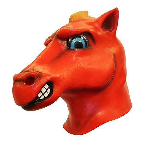Fulltime E-Gadget Mask Spielzeug,Cosplay Cartoon Pferd Schmelzen Gesicht Latex Kostüm Unisex Prop Für Festival,Cosplay,Halloween,Kostüm ()