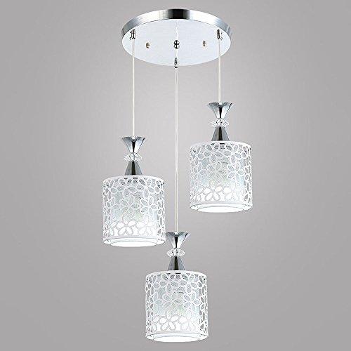 Lampe vintage lustre 3 ampoules lampe suspension design moderne E27 Suspension métallique Leuchten Max 40 W Lampe de table Suspension wärm Blanc Fur salle à manger (Ampoules non incluses)