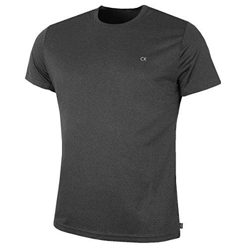 Calvin Klein Golf Herren CK Technische T-Shirt - Grau Marl - M (Brust Ck)
