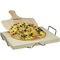 Relaxdays 10020489 Set per Pizza, con Pietra