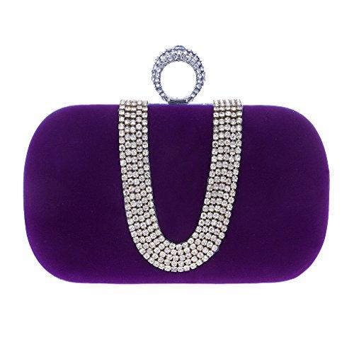 BF-Handbag, Poschette giorno donna viola Purple taglia unica Purple
