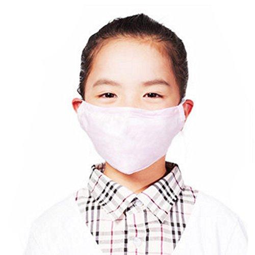 Kinder Staubdicht Anti-bakterielle Filterohrbügel Gesichtsmundschutz-Maske, Rosa