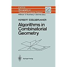 Algorithms in Combinatorial Geometry