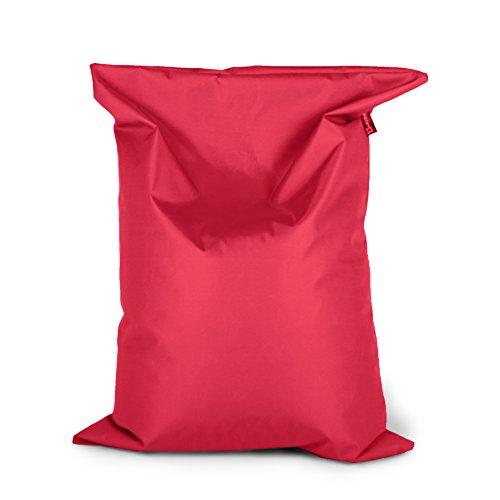 BuBiBag Sitzsack 150x100cm ca.340L mit Füllung Sitzkissen Rechteck Bodenkissen Kissen Sessel BeanBag (rot)