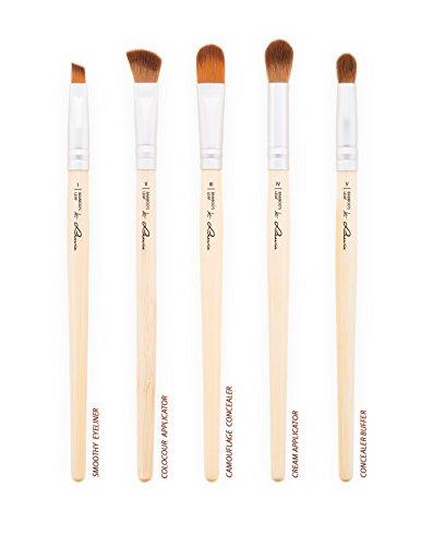 Schminkpinsel-Set Vegan von Luvia Cosmetics – 8 Make-Up Pinsel im Pinselset mit nachhaltigen Bambus-Griffen und einer Pinseltasche – Tierversuchsfreie Kosmetik - 3