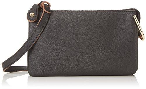 PIECESPCPILLA CROSS BODY BAG - Borsa a tracolla Donna , Nero (Nero (nero)), 20x12x1 cm (B x H x T)