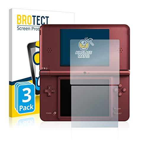 3X BROTECT AirGlass Matte Premium Glasfolie für Nintendo DSi XL (extrahart, ultradünn, matt und entspiegelnd, Anti-Fingerprint, flexibel)