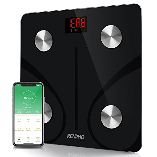 RENPHO Bluetooth Körperfettwaage, Digitale Körpergewicht, Personenwaage mit Smart BMI Waage, Körperkomposition Analyzer mit Smartphone-App