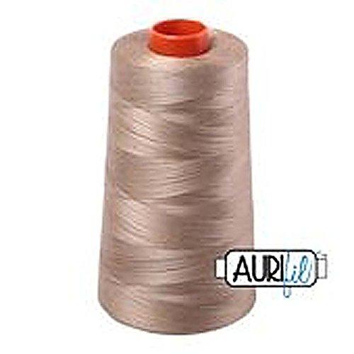 aurifil 2325Mako 50WT 100% Baumwolle Gewinde, 6,452Hof Membran Leinen, beige -