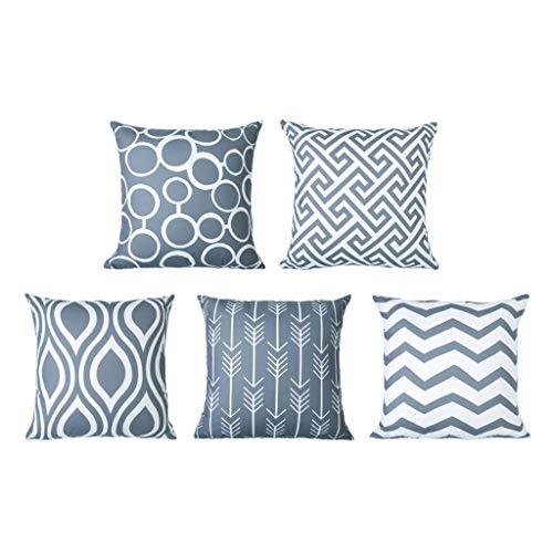 Ziyou Dekorative Dekokissenbezüge Durable Canvas Outdoor Kissenbezüge 12 x 20 für Couch Schlafzimmer Auto, Packung mit 6 (Gelb, 45cmx 45cm) -