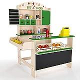Froggy Kaufmannsladen Holz Bioladen Kaufladen Spielladen Kinder Natur Grün