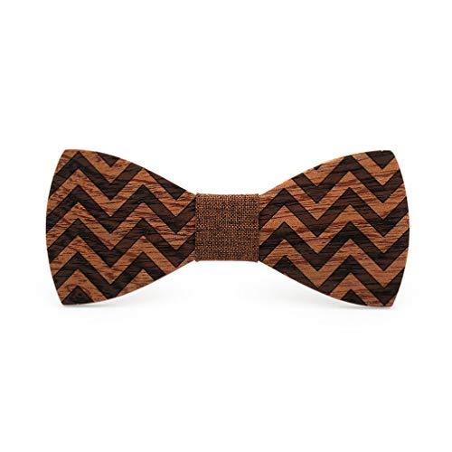 Ruijanjy Sciarpa Fashion Party Bowtie Bow Tie Formale di Legno Uomini Regali di Nozze di Accessori di Natale Tie Uomini di Partito