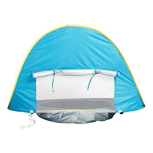 tomatische Pop Up Baby Strand Zelt Infant Tragbare Cabana Schatten Planschbecken UV Schutz Sun Shelter Blau für Familie Garten Camping Picknick Angeln Zeiten Um zu trainieren ()