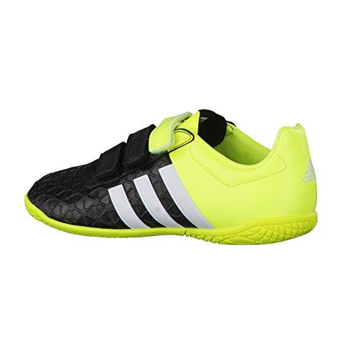adidas Ace 15.4 In J Hl, Compétition de foot garçon Noir / Lima