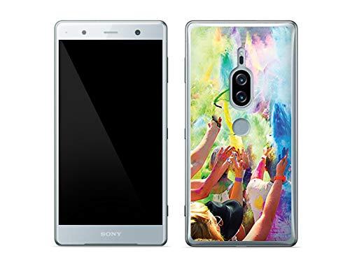 etuo Sony Xperia XZ2 Premium - Hülle Foto Case - Holi Dust - Handyhülle Schutzhülle Etui Case Cover Tasche für Handy