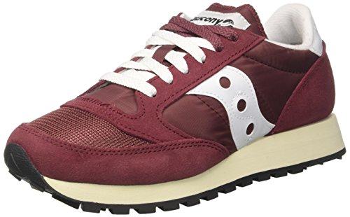 Saucony Jazz o Vintage, Sneaker Donna, Rosso (Bur/Wht 27), 38.5 EU