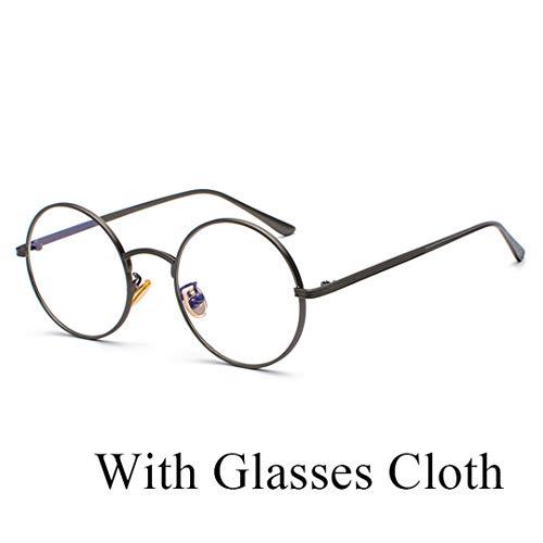 DAIYSNAFDN Designer Runde Metall Steampunk Sonnenbrille Frauen Männer Vintage Retro Objektiv Sonnenbrille N0.11