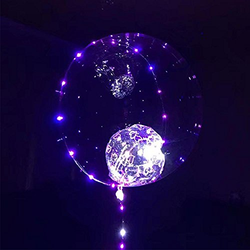 Pawaca LED Light Up Balloon  18 Inch Clear Led BoBo Balloon With 3M Colorful String Lights  For Wedding  Birthdays  Christmas Day  Festival  Party Decorations  Fillable with Helium