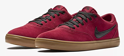d2ced3027315 Nike SB M SB Check Solarsoft Skateboarding Shoe Red Crush Black Gum Light  Brown