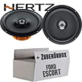 Hertz DCX 165.3-16cm Koax Lautsprecher - Einbauset für Ford Escort Front - JUST SOUND best choice for caraudio