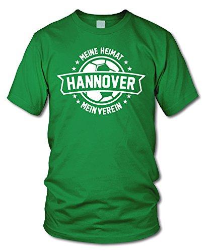 shirtloge - Hannover - Meine Heimat, Mein Verein - Fan T-Shirt - Grün - Größe S