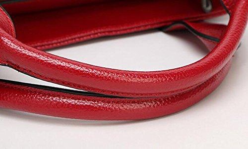Handtasche Handtaschen Einfache Farbe Einzigen Schulter Schrägen Damen Großen Tasche Reißverschluss Lässig Brown