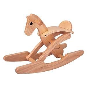 PlanToys - PT3418 - Jouet en bois - Cheval à Bascule Pliant