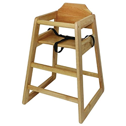 Bolero Wooden Highchair Natural Finish For Dining And Cafe 750X510X510mm 41YVEZjbtPL