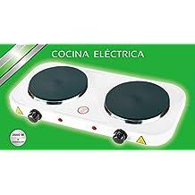 COCINA ELECTRICA DOBLE HORNILLO 2000W 2 FUEGOS PLACA ELECTRICO CAMPING GARANTIA
