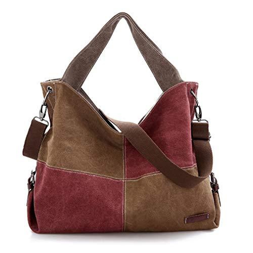 Rayem Handtasche, Weibliche Große Schultertasche, Fashion Trend Messenger Bag, 40 * 13 * 36Cm,Red,M